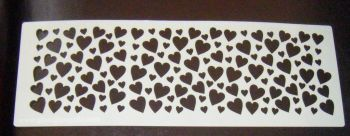 Hearts Cake decorating stencil Airbrush Mylar Polyester Film