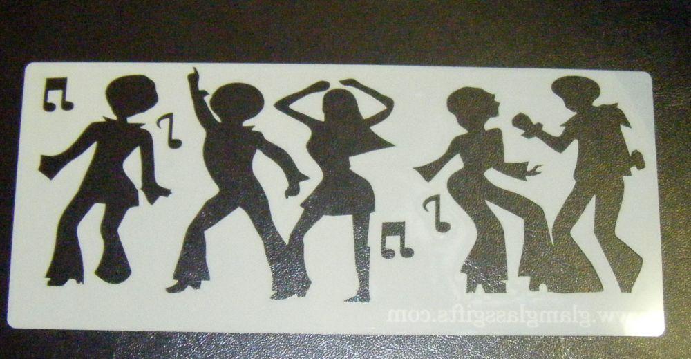 70's Disco Dancers Cake Decorating Stencil