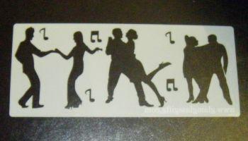 Dancers Cake or Craft Decorating Stencil