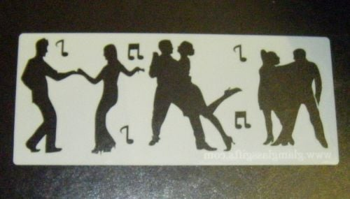 Disco dancers Cake decorating stencil