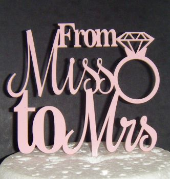 From Miss to Mrs Cake Topper
