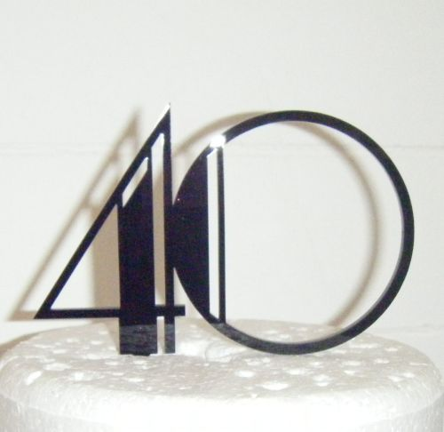 Art Deco any Number Cake Topper