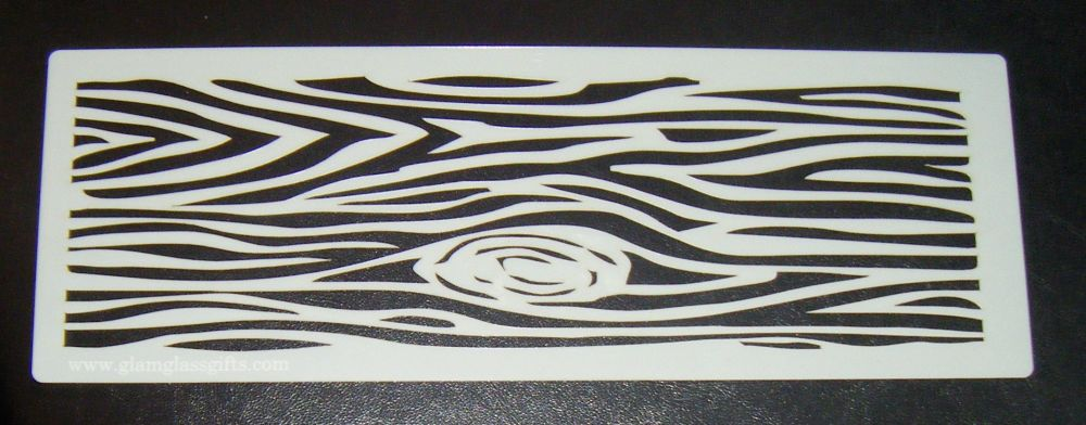Wood Slice Cake decorating stencil set Airbrush Mylar Polyester Film