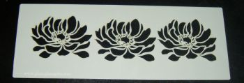 3 lily flowers Cake decorating stencil Airbrush Mylar Polyester Film
