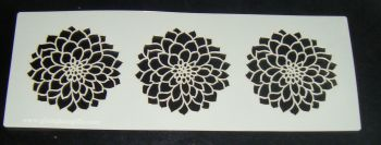 3 chrysanthemum flowers Cake decorating stencil Airbrush Mylar Polyester Film