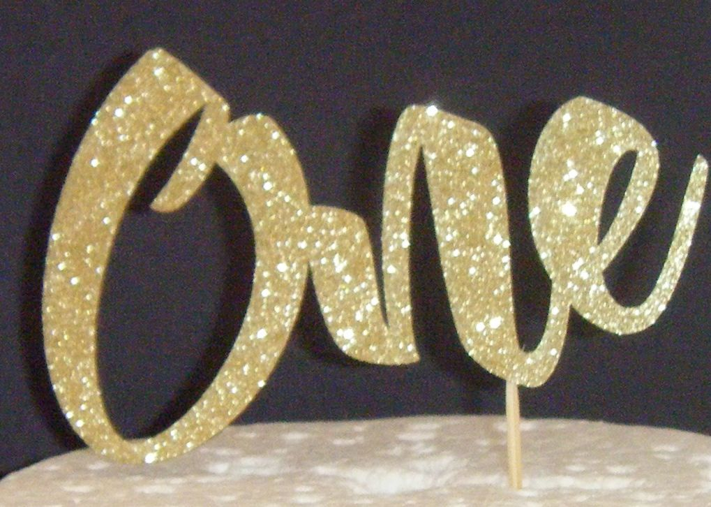 Number One Cake Topper style 2