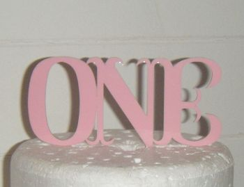 Number One Cake Topper style 3