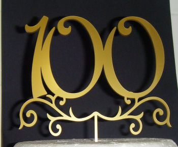 100 Cake Topper Or any Number in same style