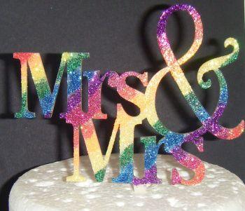 Mrs + Mrs Acrylic Cake Topper