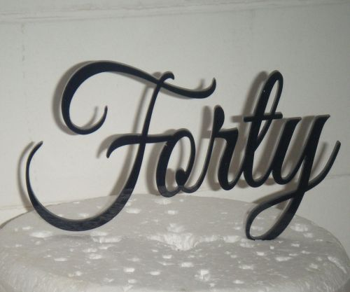Forty Cake Topper 2