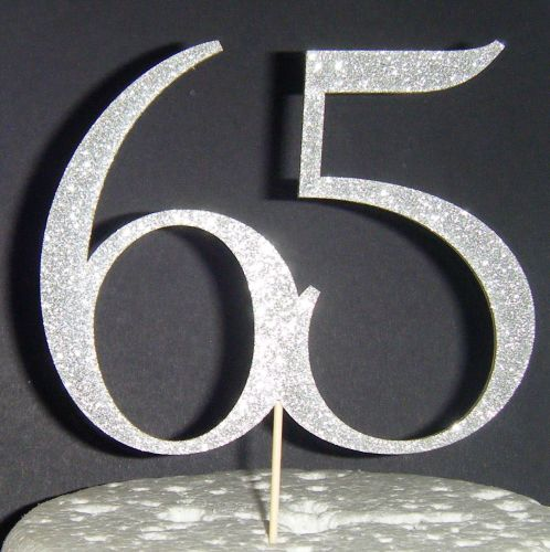65 Cake Topper