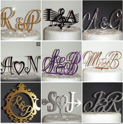 Letters Initials Toppers