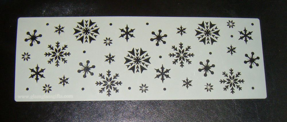 Snowflakes Cake decorating stencil set Airbrush Mylar Polyester Film