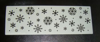 Snowflakes Cake decorating stencil Airbrush Mylar Polyester Film