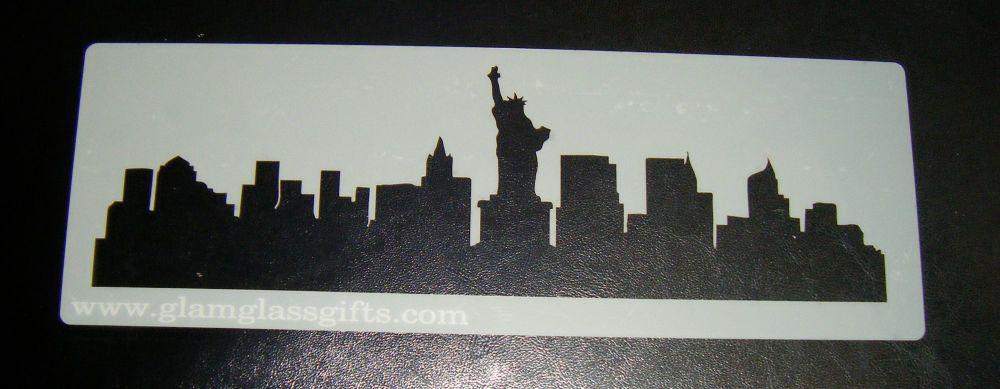 New York skyline Cake stencil