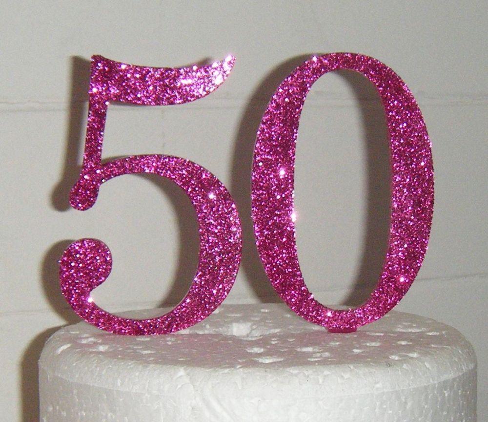 50 Cake Topper