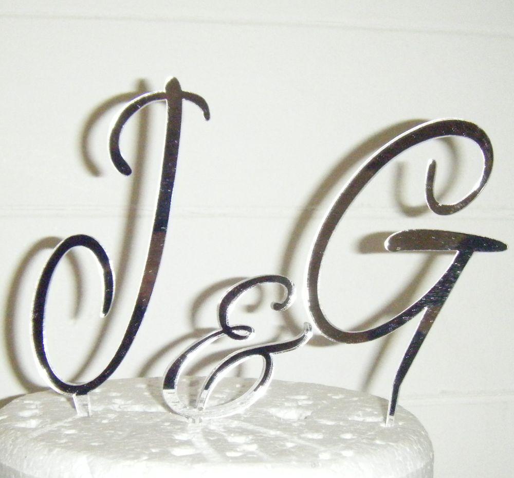 Alex Brush Initials Letters Topper
