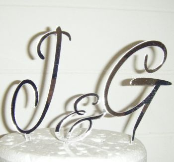 Alex Brush Initials Letters Topper