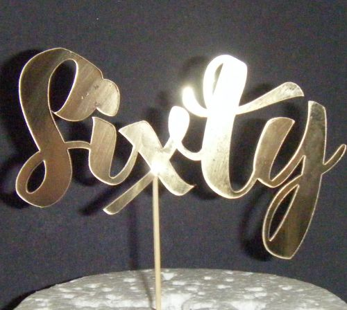 Sixty Cake Topper 2