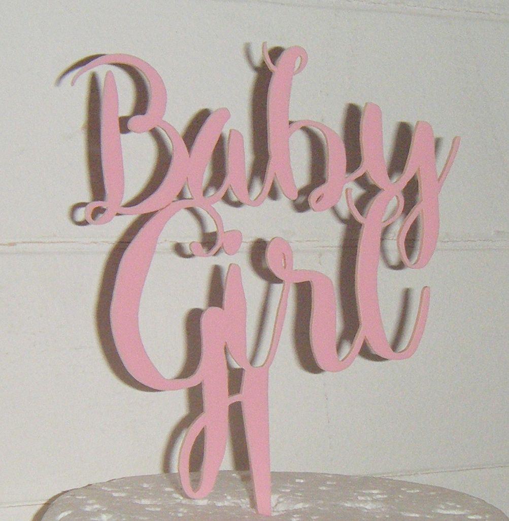 Baby Girl Shower Cake Topper