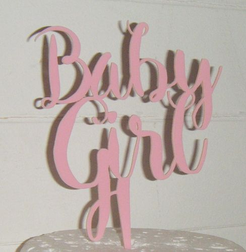 Baby Girl Shower Cake topper