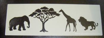 African animals Safari Cake stencil