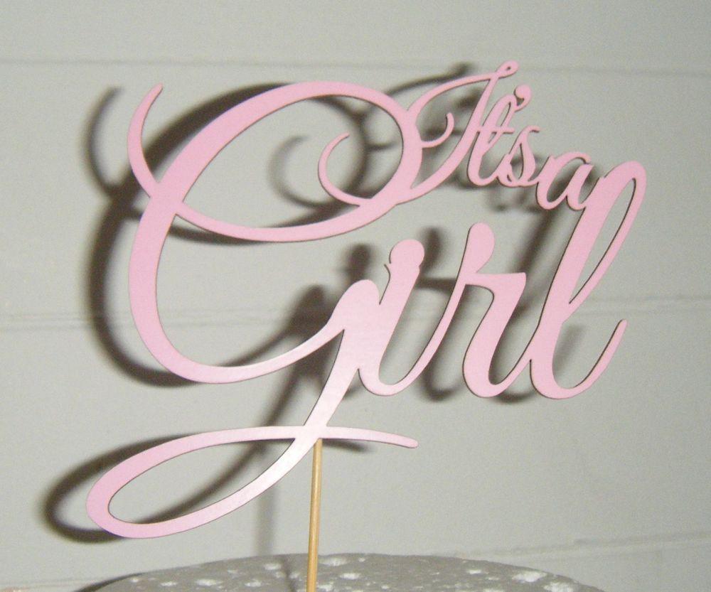 It's a girl Shower Cake topper