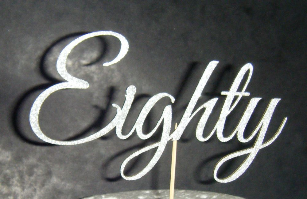 Eighty Cake Topper 2