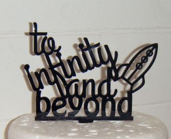 To infinity and beyond Rocket Silhouette Cake Topper