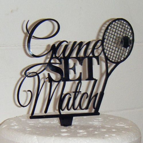 Game, Set and Match Silhouette Cake Topper