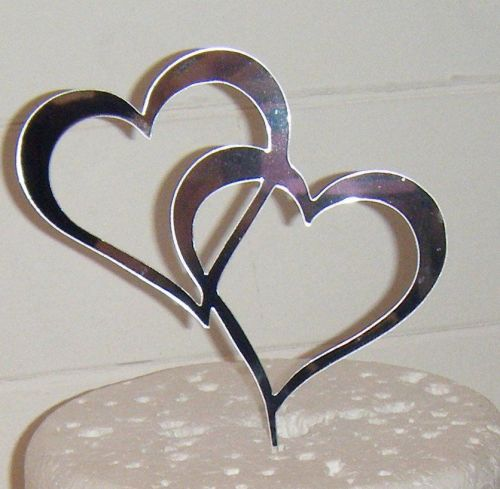 Entwined Hearts Silhouette Cake Topper