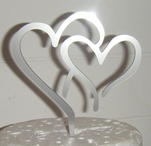 Entwined Hearts 3 Silhouette Cake Topper