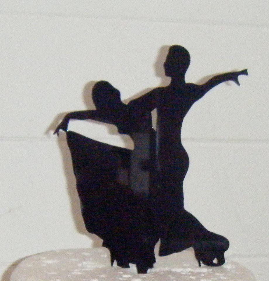 Latin Dancers Silhouette Cake Topper