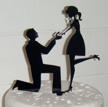 Proposal Silhouette Cake Topper 4