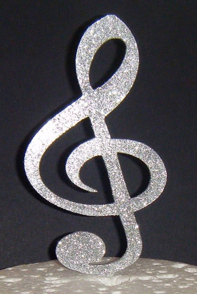 Music Note Silhouette Cake Topper