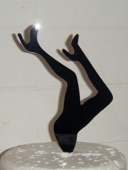 Legs Silhouette Cake Topper