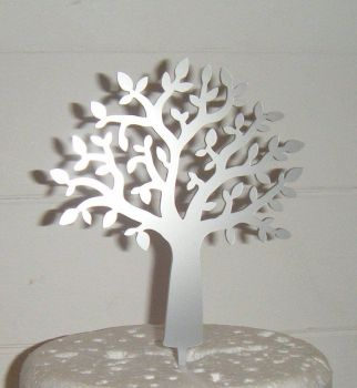 Tree Silhouette Cake Topper