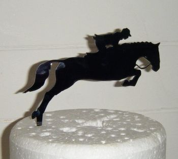 Horse and Rider  Silhouette Cake Topper