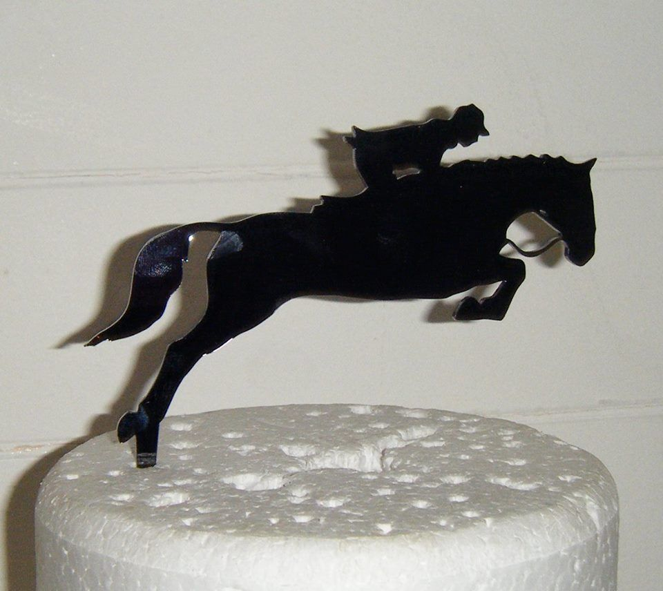 Horse Rider  Silhouette Cake Topper