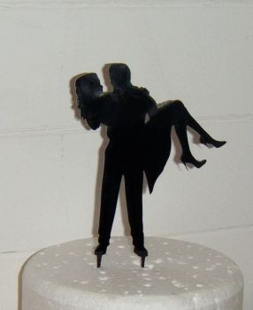 Wedding Acrylic Cake Topper