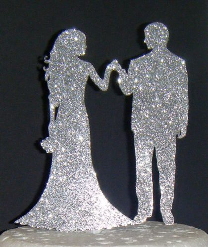 Wedding couple Silhouette Cake Topper 2