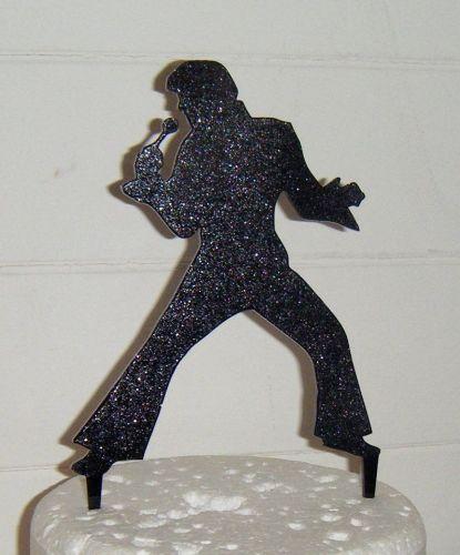 Elvis Silhouette Cake Topper