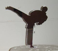Single Judo Karate Martial arts Topper Silhouette Cake Topper