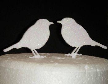 Love birds pair Silhouette Cake Topper