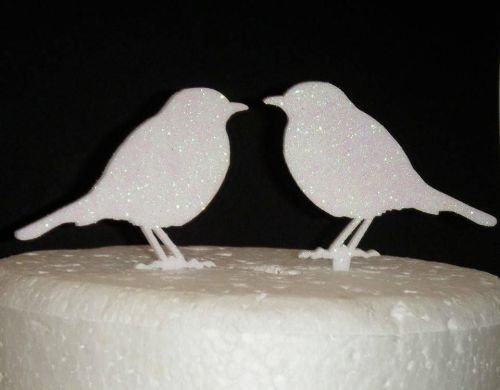 Love birds pair Silhouette Cake Topper