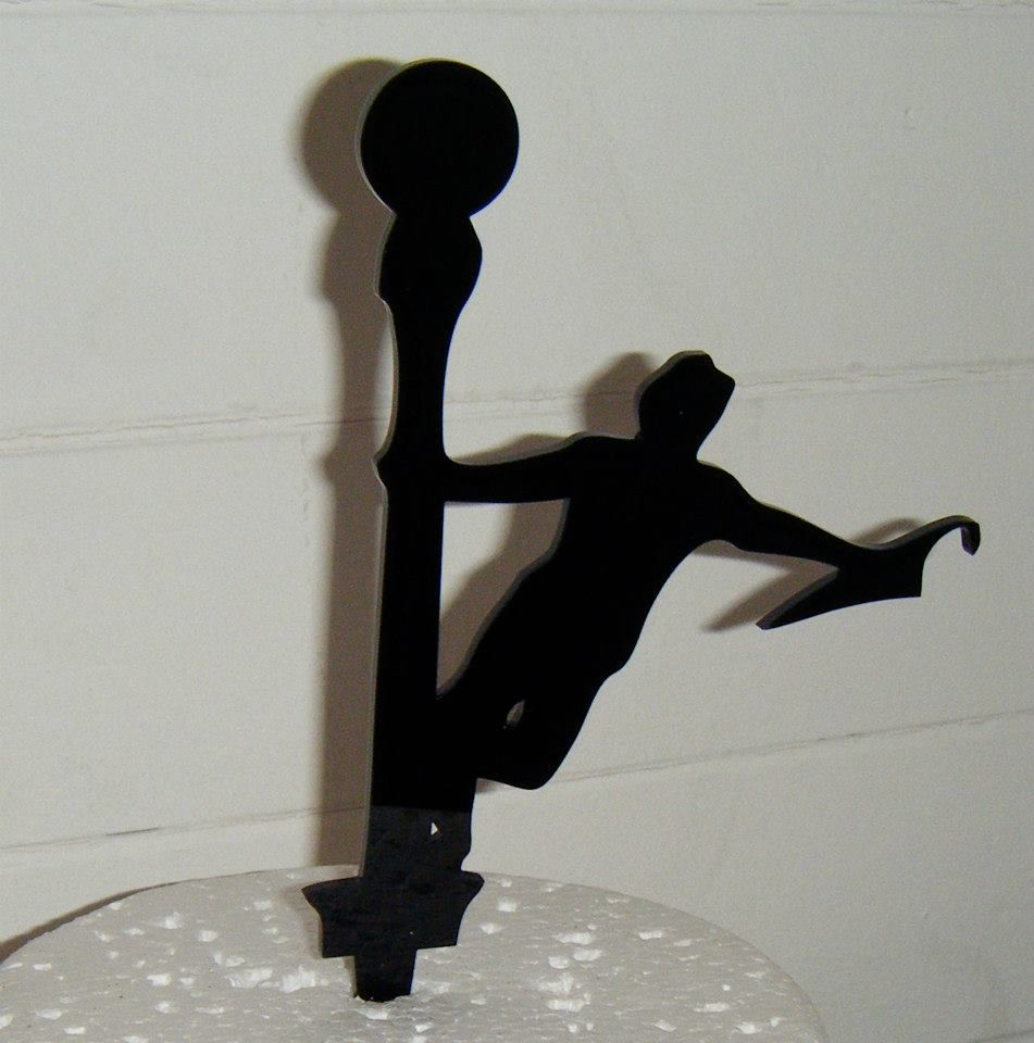 Singing in the rain  Topper Silhouette Cake Topper