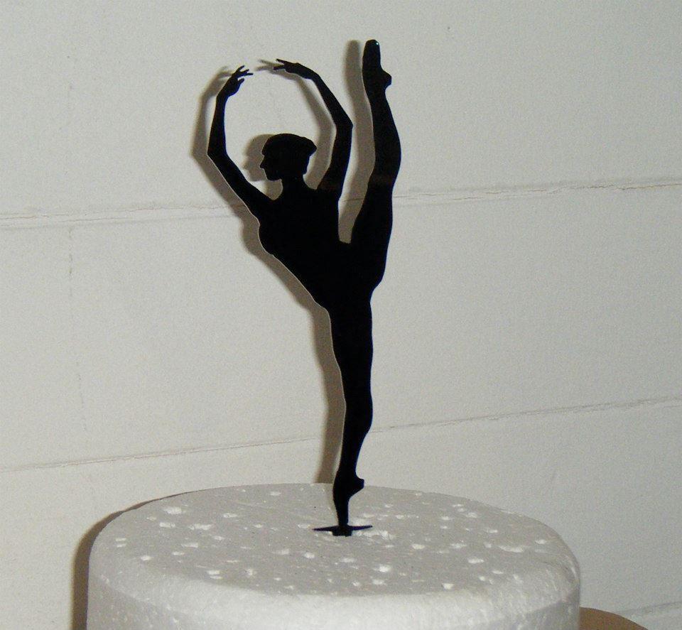 Ballerina Silhouette Cake Topper 3