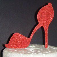 Hi Heel Shoe  Silhouette Cake Topper