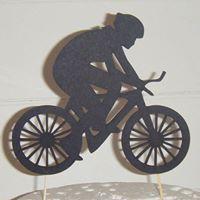 Cyclist Bike rider Silhouette Cake Topper
