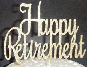 Happy Retirement Cake Topper